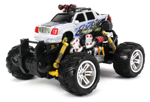 Graffiti Cadillac Escalade Ext Electric Rc Off-Road Monster Truck 1:18 Scale 4 Wheel Drive Rtr, Working Hinged Spring Suspension, Perform Various Drifts (Colors May Vary)