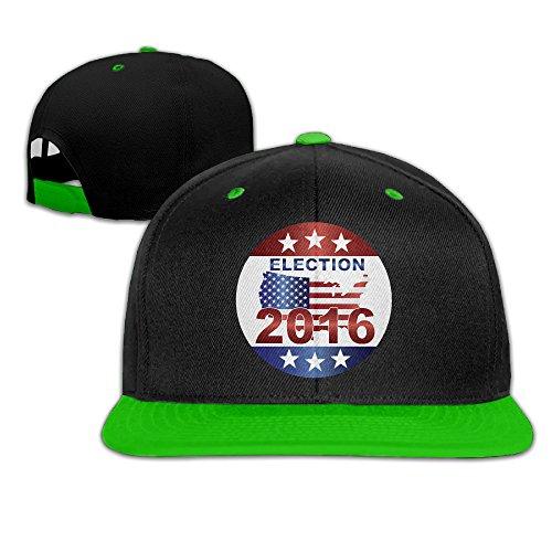 Show Time Presidential Election 2016 Baseball Cap Snapback Flat Bill Cap KellyGreen