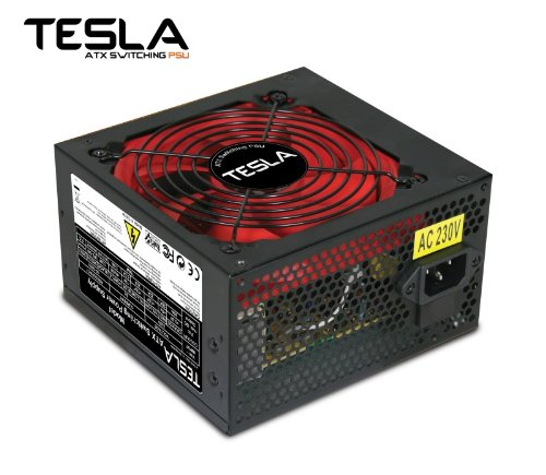 Tesla 500W 230V Silent Operation PC Power Supply Unit