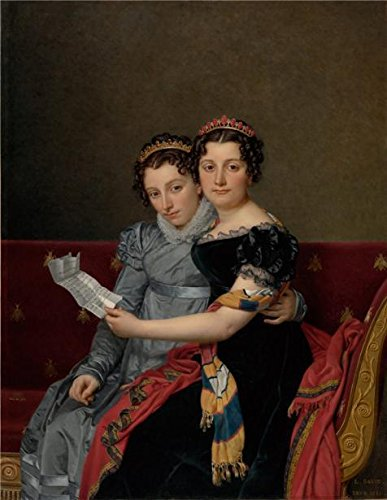 Oil Painting 'The Sisters Zenade And Charlotte Bonaparte, 1821 By Jacques-Louis David' 8 x 10 inch / 20 x 26 cm , on High Definition HD canvas prints, gifts for Bath Room, Bed Room And Kitchen decor (Oasis Glue Dots compare prices)
