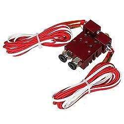 12V 40W Chimera Extruder V6 Dual Print Head Hotend 0.4mm/1.75mm for 3D Printer Accessories