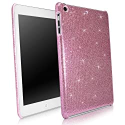 BoxWave Apple iPad mini Glamour & Glitz Case - Sleek Form-Fitting Protective Shell Case w/ Sparkly Glitter Design - iPad mini Cases and Covers (Princess Pink)