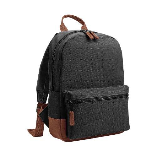 Bagbase - Mini Student - Zainetto da 6,5 L (Taglia unica) (Nero/Marrone)