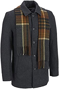 Black Rivet Mens Wool Single Breasted Coat