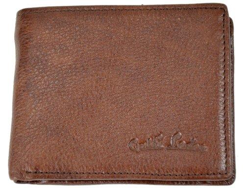 Wallet Gusti Genuine Leather Purse Portemonnaie Billfold Credit Card Holder Money Case Coin Pocket Unisex Brown A19