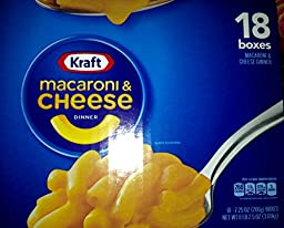 Kraft Macaroni & Cheese Dinner, 7.25-oz. Boxes (Count of 18) Mac and Cheese
