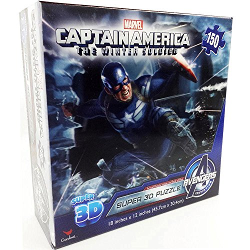 Captain America 2 150 Piece Super 3D Puzzle by Cardinal - 1