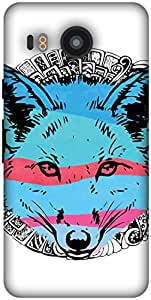The Racoon Lean Foxy Baby hard plastic printed back case / cover for LG Nexus 5X