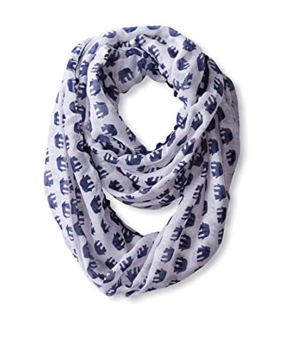 Evelyn K Women's Elephant Infinity Scarf, Navy As You See