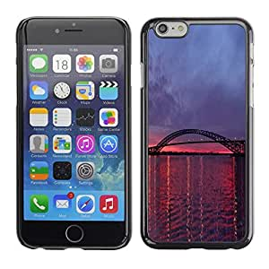 Omega Covers - Snap on Hard Back Case Cover Shell FOR Apple Iphone 6 Plus / 6S Plus ( 5.5 ) - Purple Pink Sunset River Nature