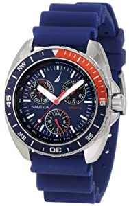 Nautica Men's N07578G Sport Ring Multifunction Blue and Red Watch