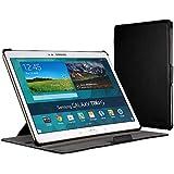 EasyAcc Schutzhülle für Samsung Galaxy Tab S 10.5 hülle Leder Case Flip Case Book Cover Ledertasche Auto Sleep Wake up / Standfunktion - ( Schwarz, Kunstleder )