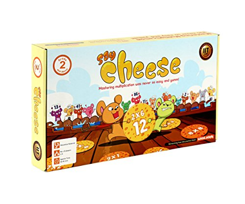 SAY CHEESE Multiplication tables game STEM toy Math manipulative gift for 7 years and up