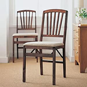 amazon com contemporary folding chairs set of two
