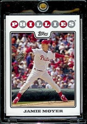 2008 Topps Baseball Cards # 173 Jamie Moyer - Philadelphia Phillies - MLB Baseball Trading Card