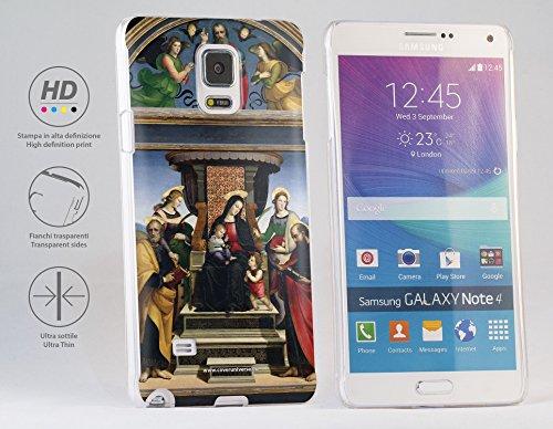 Cover rigida per Samsung Galaxy Note 4, soggetto: Raffaello Sanzio - La Pala Colonna - Madonna and Child Enthroned with Saints