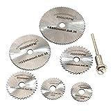 HSS cutting discs - TOOGOO(R)1 set HSS cutting discs wood plastic Copper and aluminum soft metal Small Saw blade (Color: Sliver)