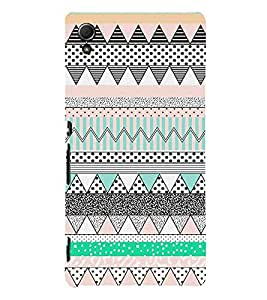 Abstract Zig Zag Pattern Cute Fashion 3D Hard Polycarbonate Designer Back Case Cover for Sony Xperia Z3+ :: Sony Xperia Z3 Plus :: Sony Xperia Z3+ dual :: Sony Xperia Z3 Plus E6533 E6553 :: Sony Xperia Z4