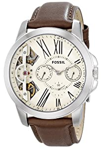 Fossil Men's ME1144 Grant Analog Display Analog Quartz Brown Watch