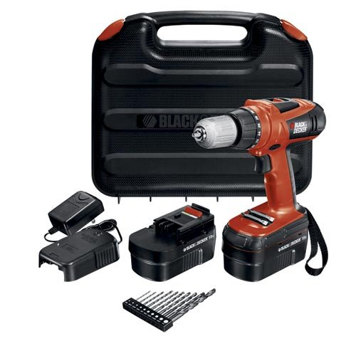 Black & Decker HPD18AK-2 18-Volt High Performance Drill with 10 Accessories