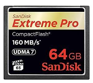 サンディスク [Sandisk] 1067倍速(160MB/s)を実現 Extreme Pro CFカード 64GB(UDMA7対応) SDCFXPS-064G-X46