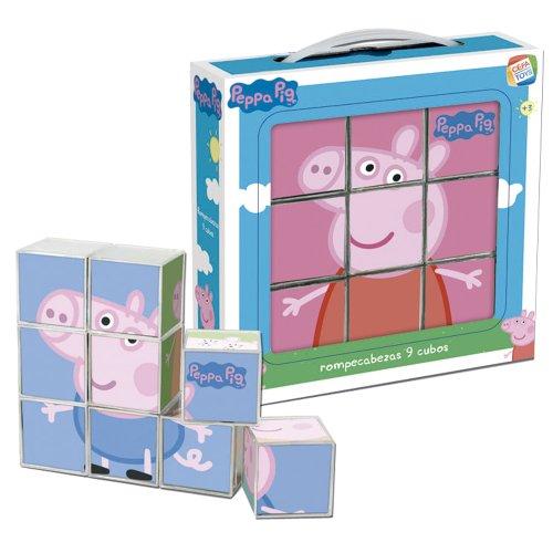 Peppa Pig - Rompecabezas, 9 cubos (Cefa Toys 88233)