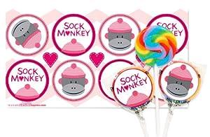 Sock Monkey Pink Small Lollipop Kit