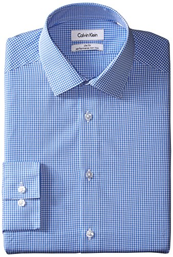 Calvin-Klein-Mens-Slim-Fit-Non-Iron-Gingham-Shirt