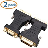 Cable Matters® 2 Pack DVI-I to VGA Male to Female Adapter