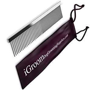 FALL SALE - Dog Grooming Supplies Durable Steel Pet Comb - 100% Money Back Guarantee - Free 65-page Grooming E-book. Use Comb with - Clippers - Scissors - Brushes - Shedding Tools - Rakes