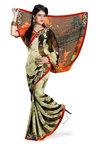 Yashoda Textile Multi Color Chiffon Printed And Border Work Sarees With Un-Stitched Blouse Piece (Y.S_685_Multi)