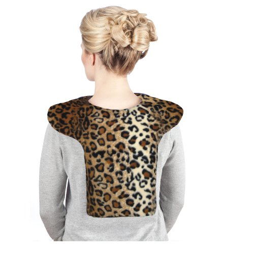Sunny Bay Microwavable Shoulder And Upper Back Heat Wrap, Leopard, Large