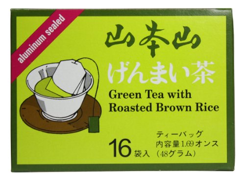 Yamamotoyama Genmai-cha Green Tea with Roasted Brown Rice, 1.69-Ounce Boxes (Pack of 12)