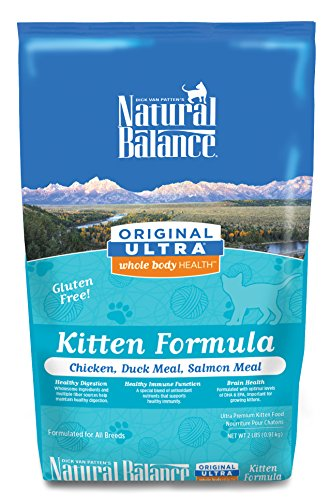 Natural Balance Original Ultra Whole Body Health Chicken, Duck Meal, Salmon Meal Kitten Formula Dry Cat Food
