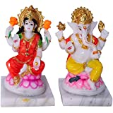 Marble Look Lord Laxmi Ganesha Statue Hindu Goddess Laxmi And God Ganesh Handicraft Idol Diwali Decorative Spiritual...