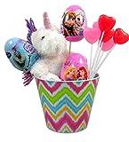 Unicorn Stuffed Animal Easter Basket with Princess Candy and Eggs