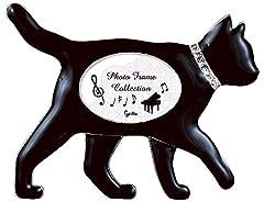 黒猫 フォトフレーム / お散歩 G-4278BK