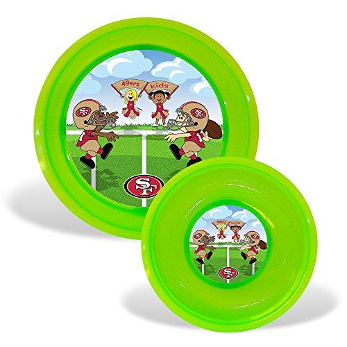San Francisco 49Ers Nfl Toddler Plate And Bowl Set