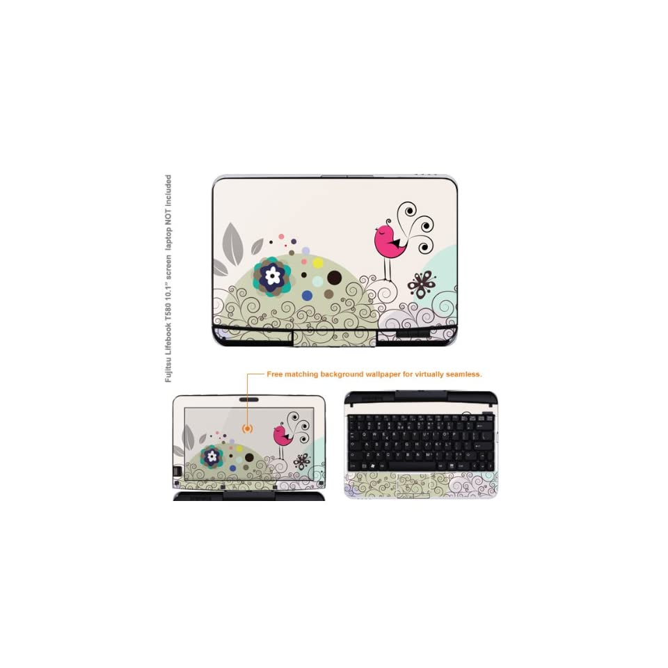 Protective Decal Skin Sticker for Fujitsu Lifebook T580 case cover T580 114 Electronics