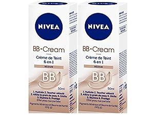 Nivea Visage - BB Cream Medium - 50 ml - Lot de 2