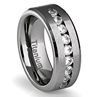 8MM Men's Titanium Ring Wedding Band…