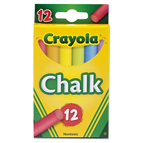 Crayola. Chalk, Assorted Colors, 12 Sticks/Box