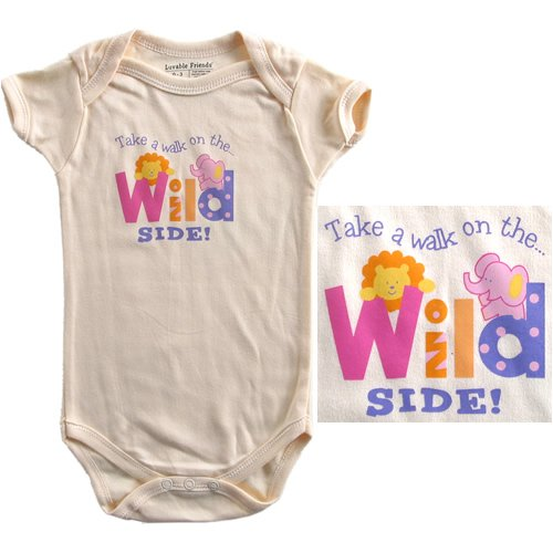 Baby-Says Bodysuit - Take a walk on the... Wild Side! - Buy Baby-Says Bodysuit - Take a walk on the... Wild Side! - Purchase Baby-Says Bodysuit - Take a walk on the... Wild Side! (Luvable Friends, Luvable Friends Apparel, Luvable Friends Toddler Boys Apparel, Apparel, Departments, Kids & Baby, Infants & Toddlers, Boys, One-Pieces & Rompers)