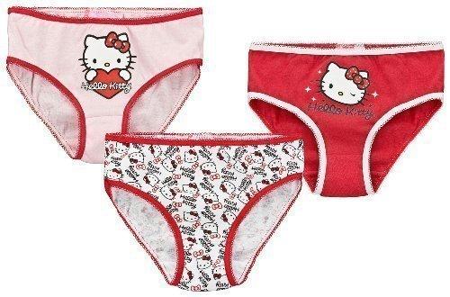 Kinder Slips in verschiedenen Farben mit Hello Kitty Motiven im praktischen 3er Pack.Diese Hello Kitty Slips haben folgende Merkmale:-original Lizensware- 3 einfarbige Slips in rot, weiß und rosa- Slips mit Hello Kitty Print- angenehmes Tragen durch ...