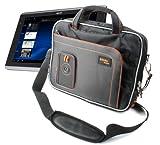 Rugged Shoulder Tablet Bag Carry Case For ACER Iconia Tab A500, Iconia Tab W500 & Iconia Tab A501 In Black