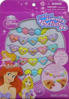 Disney Princess Pop Beads Jewelry 25ct Pack