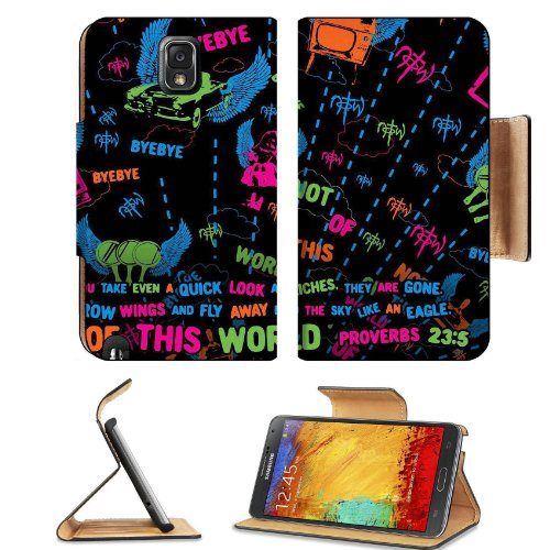 Not Of This World Proverb 23:5 Samsung Galaxy Note 3 N9000 Flip Case Stand Magnetic Cover Open Ports Customized Made To Order Support Ready Premium Deluxe Pu Leather 5 15/16 Inch (150Mm) X 3 1/2 Inch (89Mm) X 9/16 Inch (14Mm) Msd Note Cover Professional N