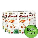 Organic Natural Almond Drink - No Added Sugar (EcoMil) 12x1 Litre