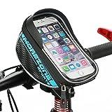 MOREZONE フレームバッグ 5.5インチ自転車スマホホルダー フロントバッグ iphone 6 Plus/6S/5S 対応 スマートフォンサドルバッグ収納アクセサリー