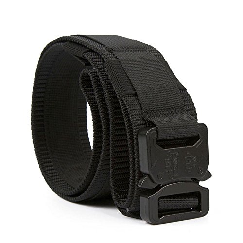 Tactical Heavy Duty Waist Belt with Molle System Military Style Belt Nylon Belts Metal Buckle, Large, Black (Tactical Padded Belt compare prices)